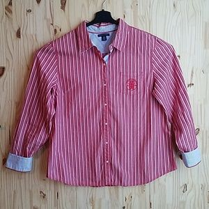 Tommy Hilfiger Womans Size XL Button Up Shirt